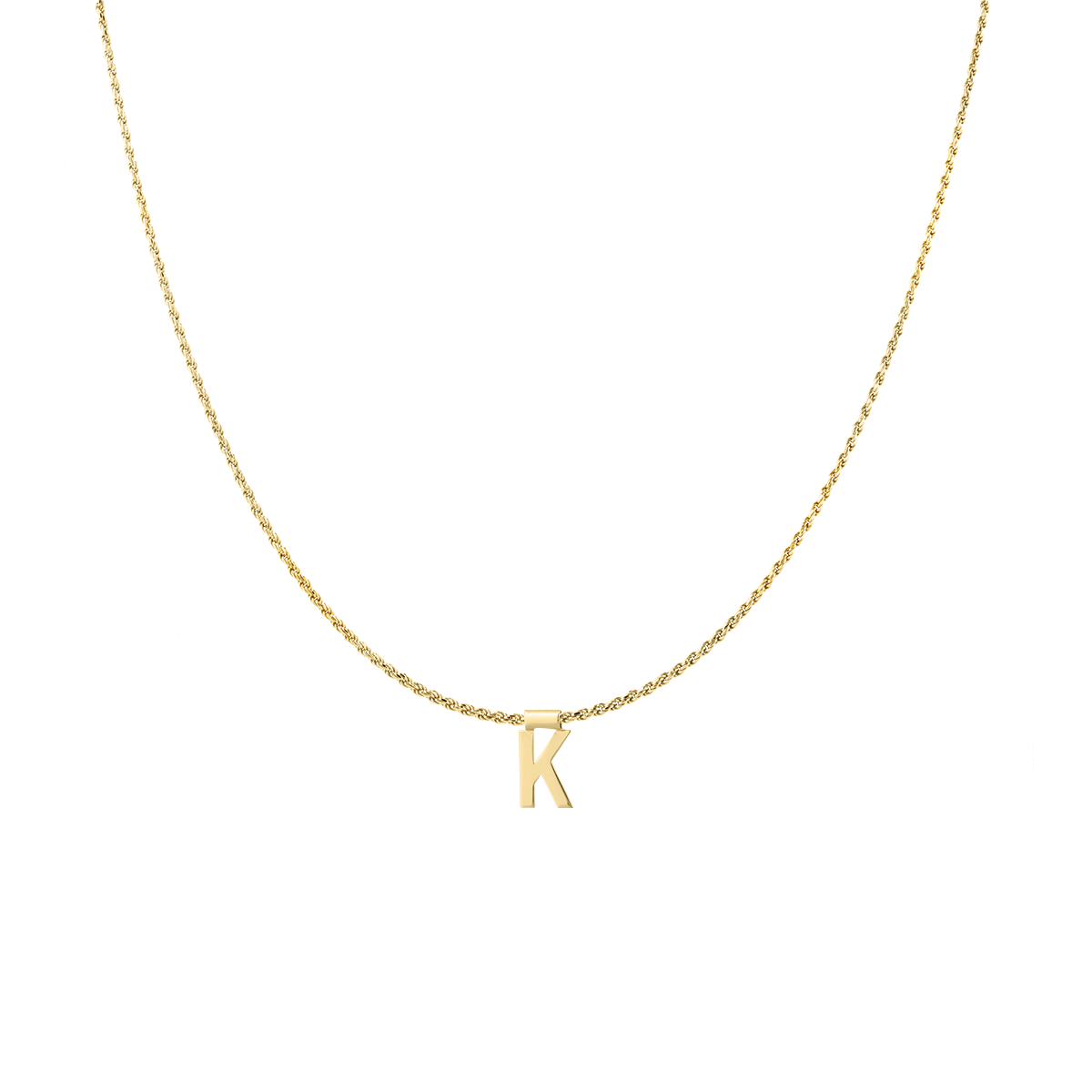 Ruby Rope Letter Necklace gold K