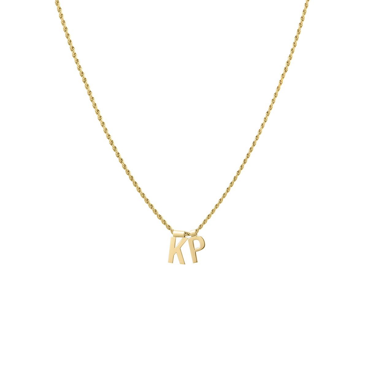 Ruby Rope Letter Necklace goud KP