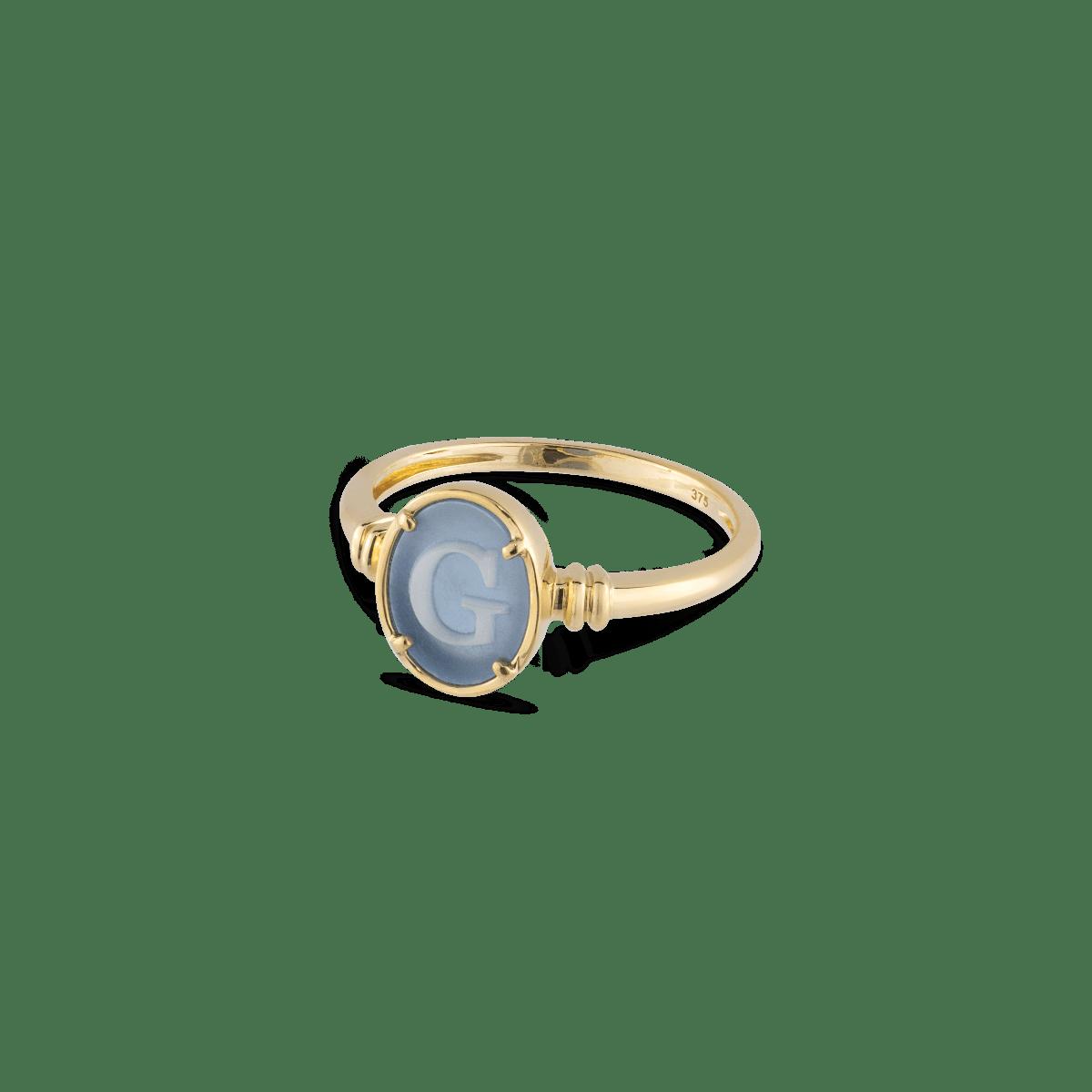 Kamala Initial Signet Ring