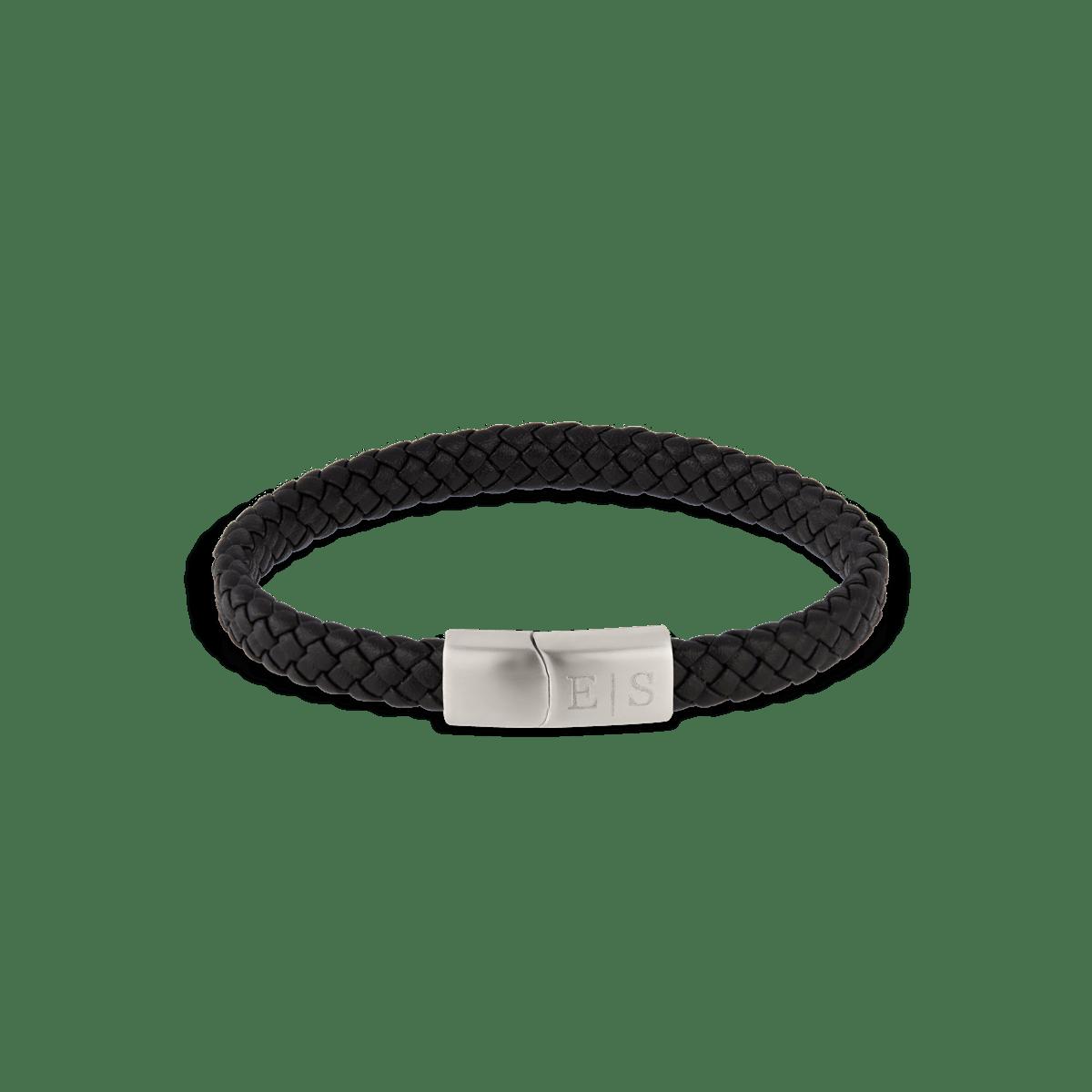 Lewis Leather Initial Bracelet