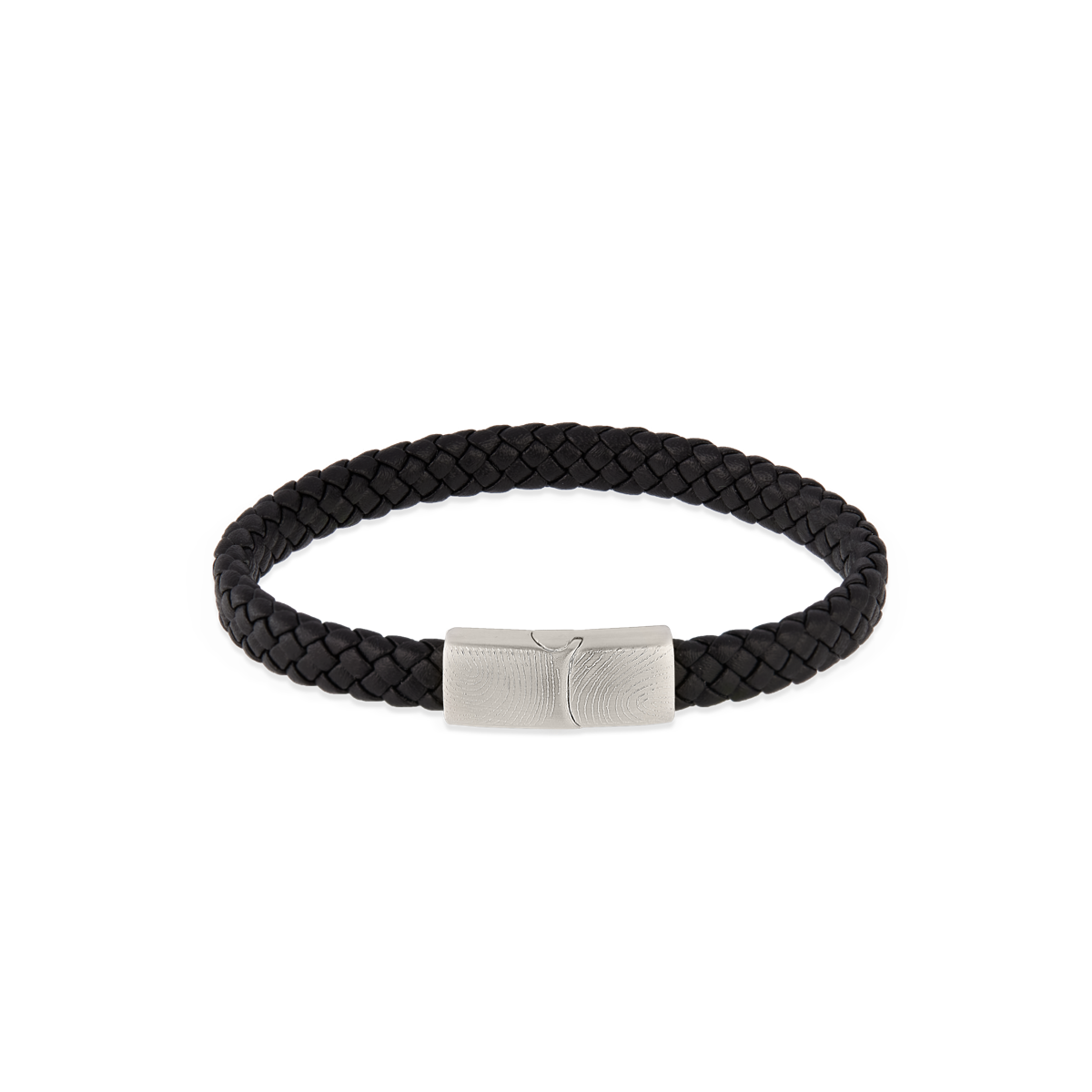Lewis Leather Fingerprint Bracelet