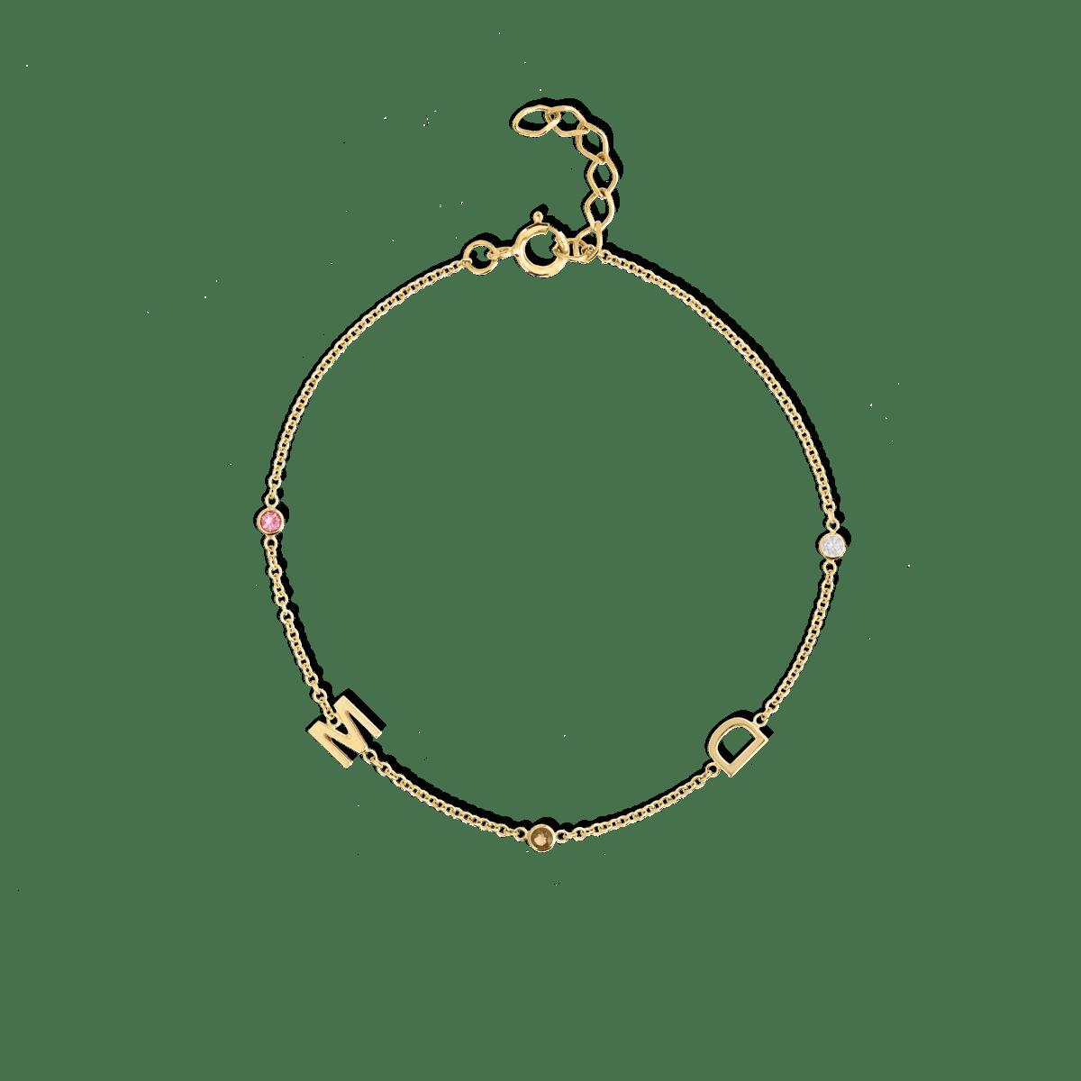 Letter + Birthstone Bracelet
