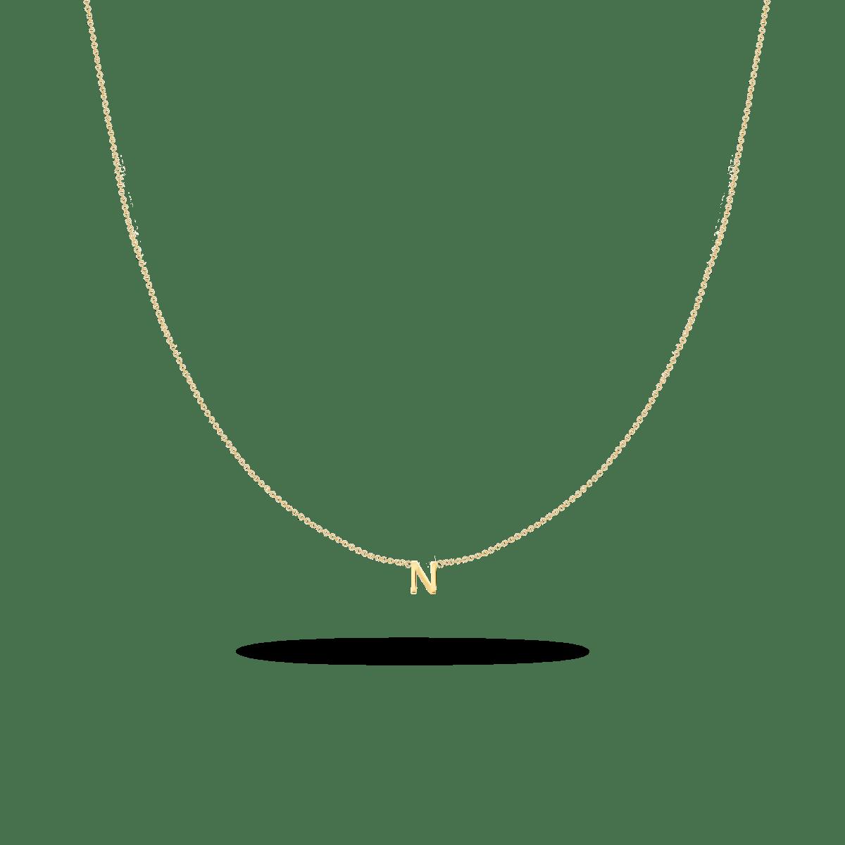 letter necklace gold
