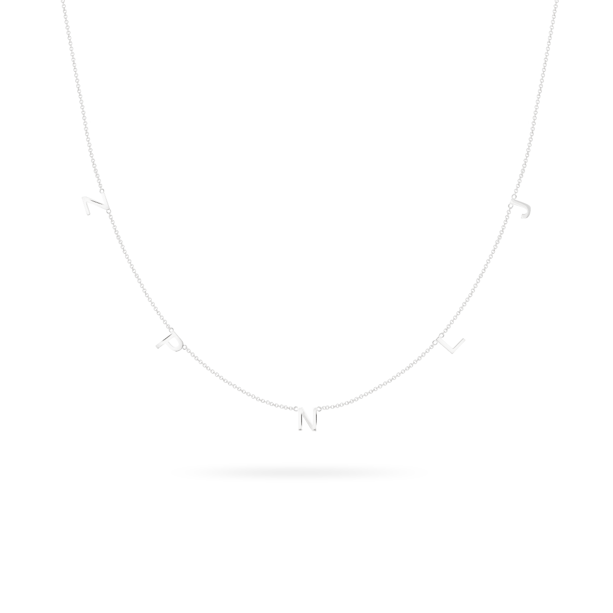 letter necklace silver