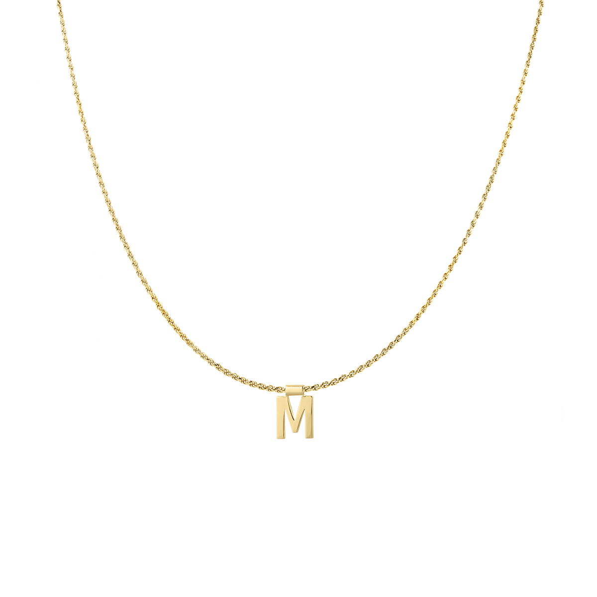 Ruby Rope Letter Necklace gold M