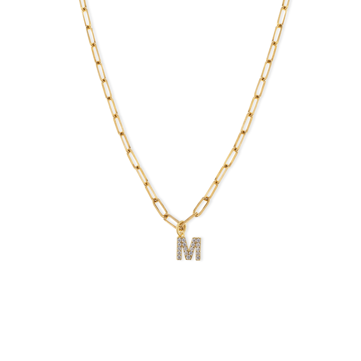 Charlotte Chain Letter Necklace