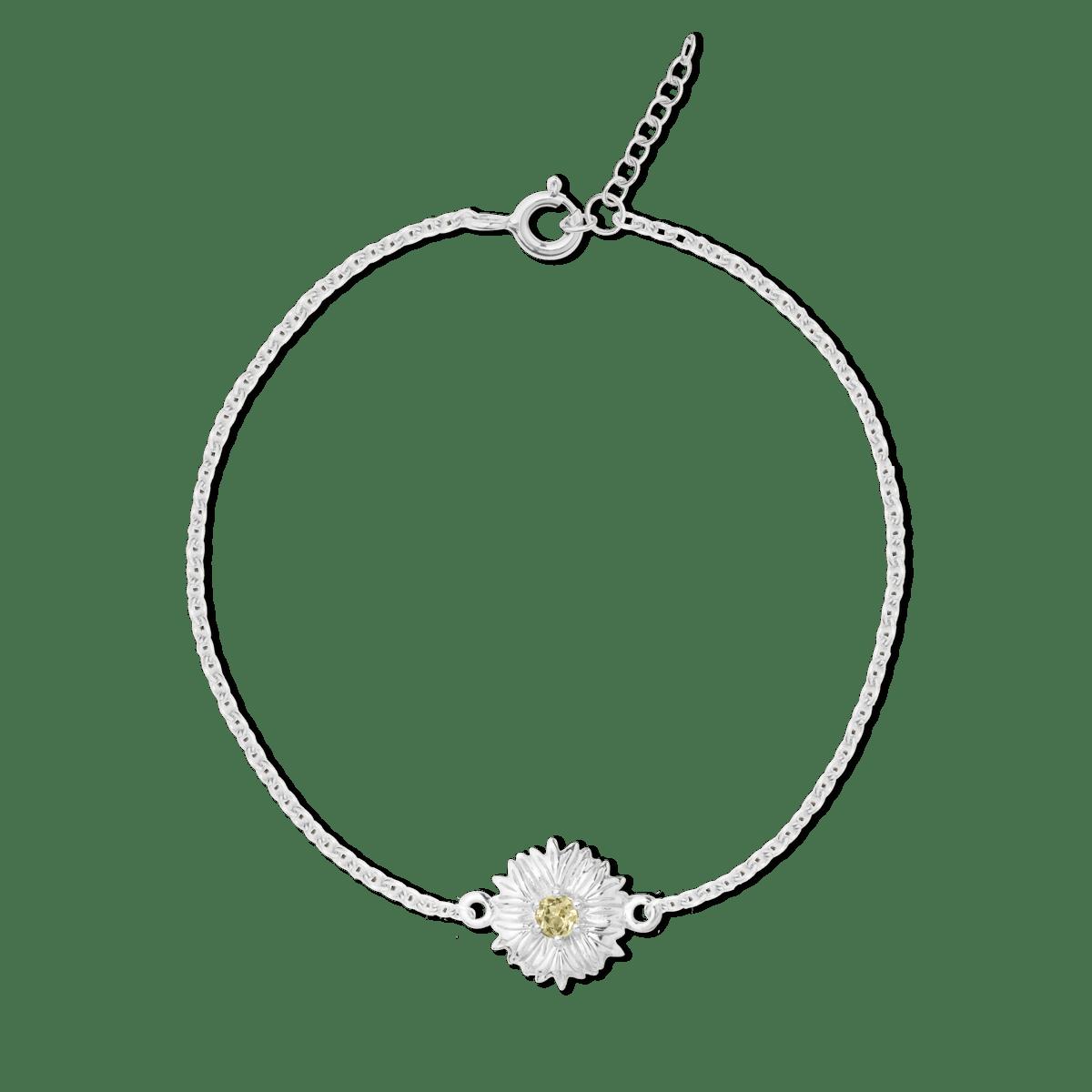 Malala Birthstone Cornflower Bracelet