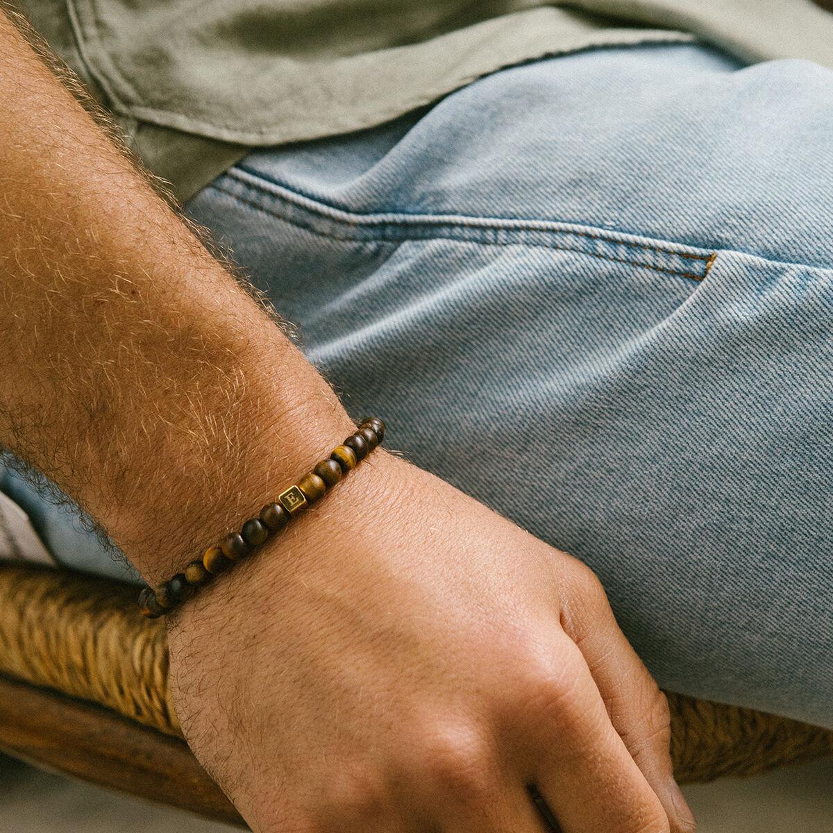 Simon Beaded Initial Bracelet