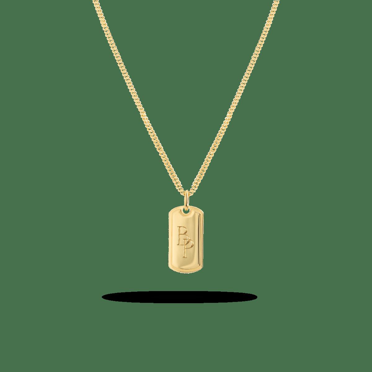 Monogram Tag Necklace