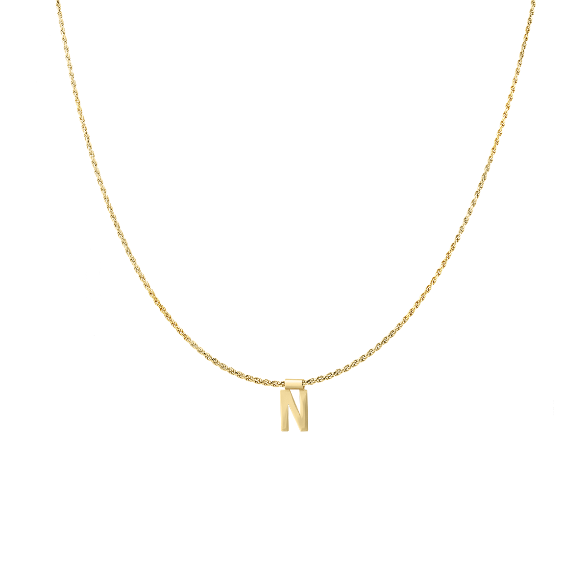 Ruby Rope Letter Necklace goud N