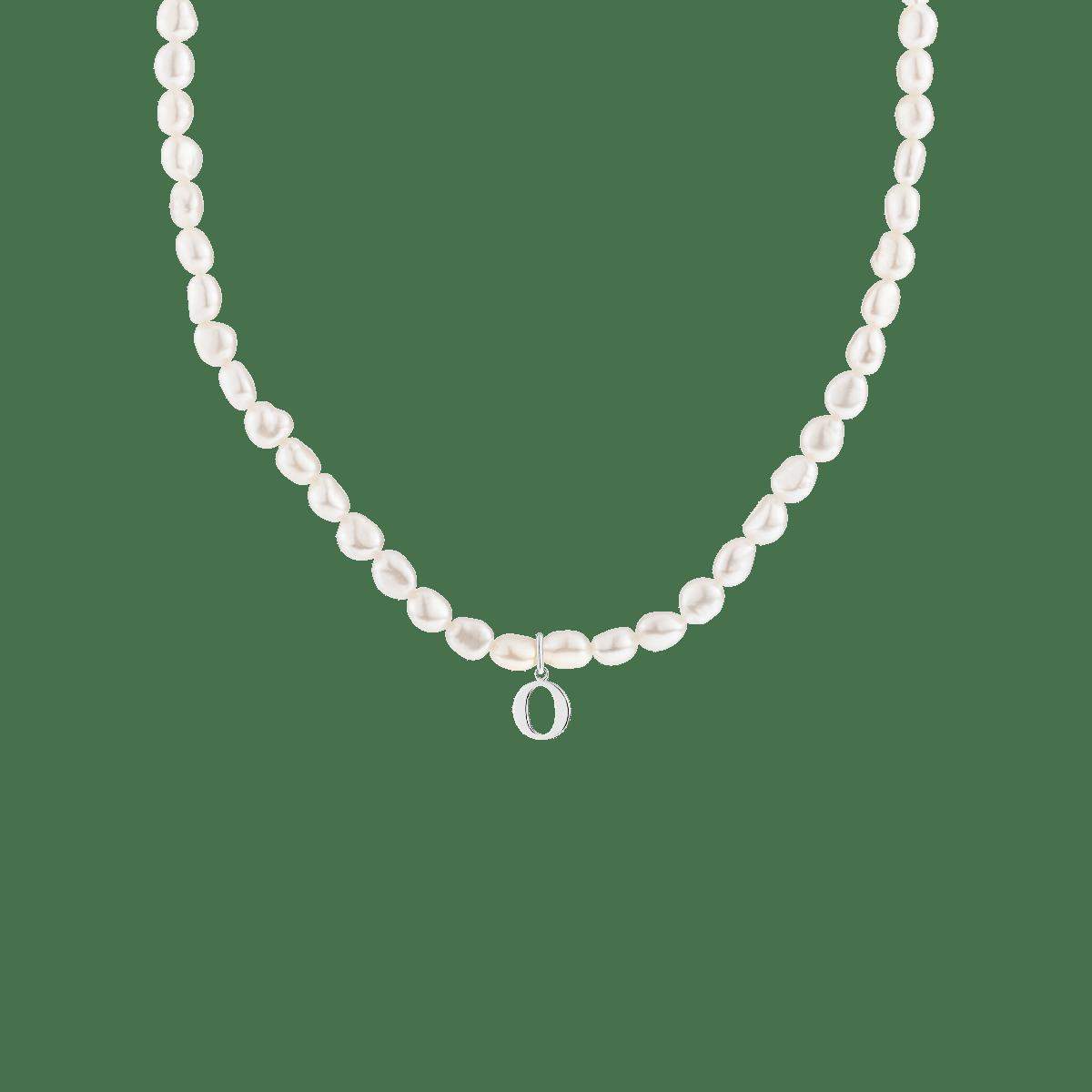Grace Pearl Letter Necklace