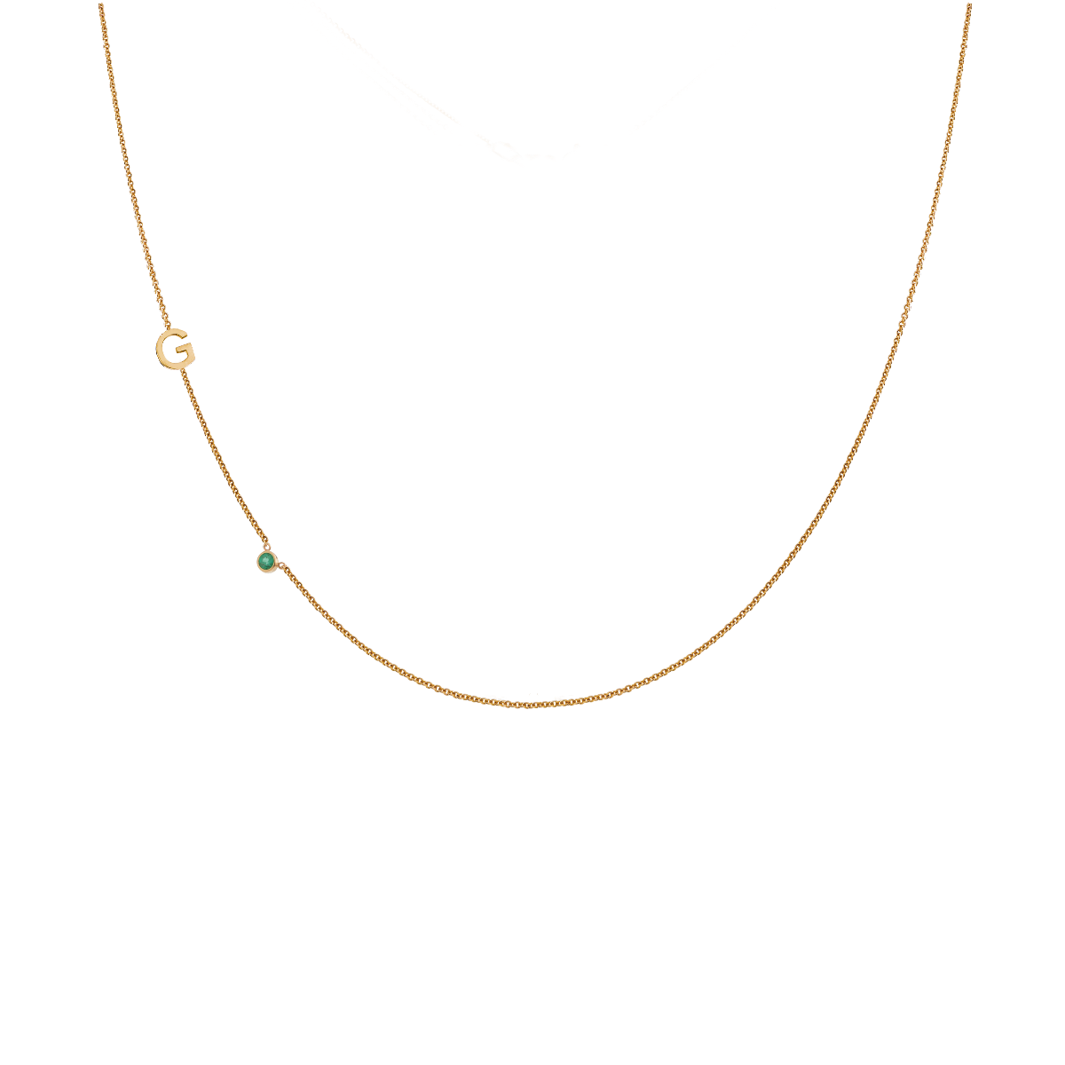 Letter + Birthstone Necklace