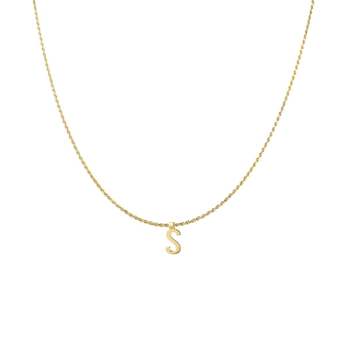 Ruby Rope Letter Necklace goud S