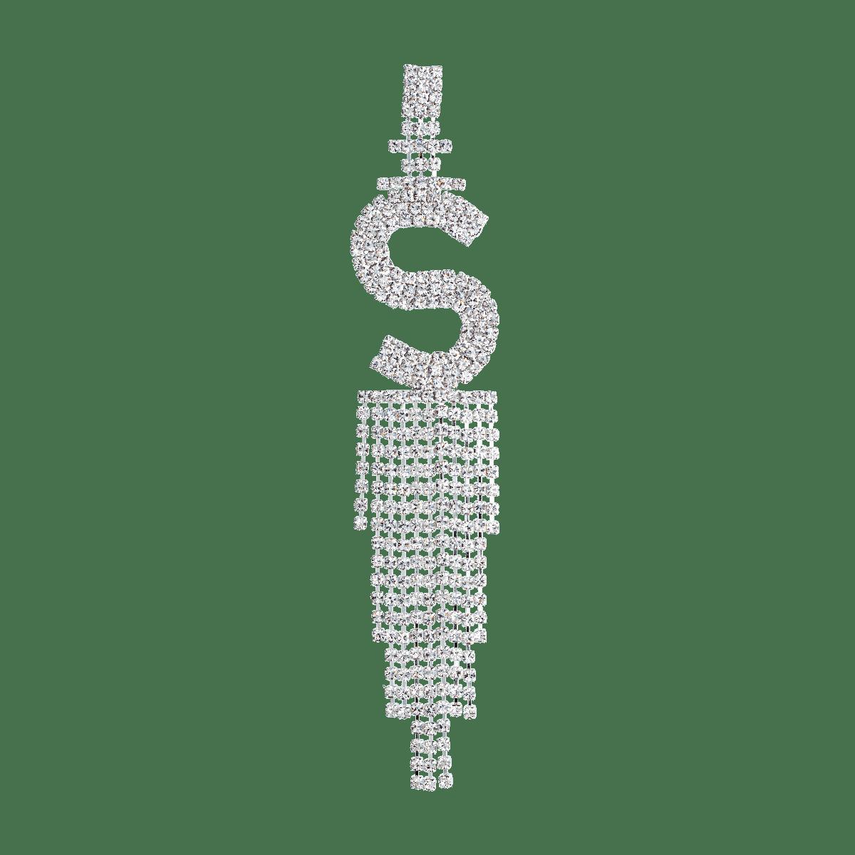 Double Festive Letter Earring Silverplated
