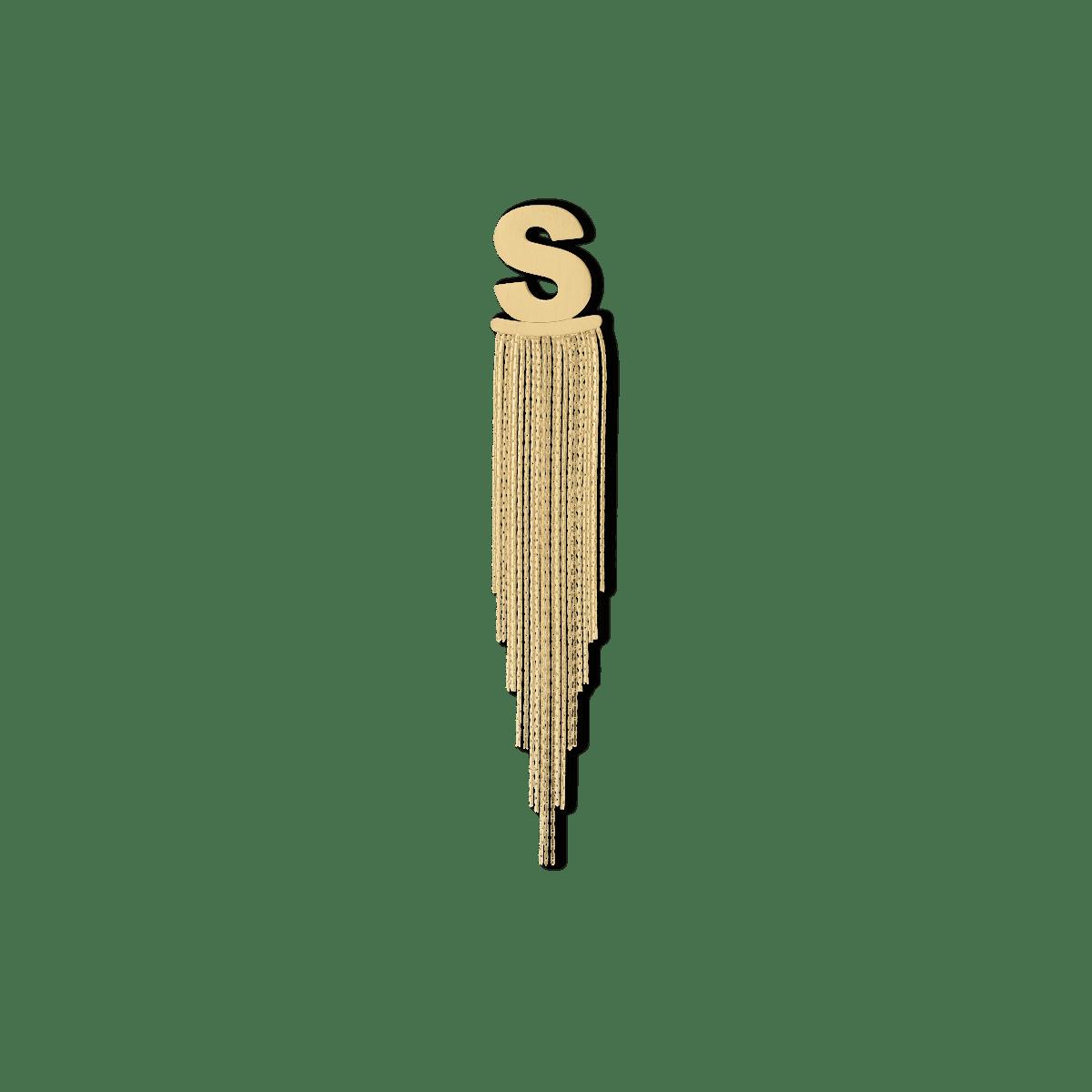 Shelly Show Letter Earrings