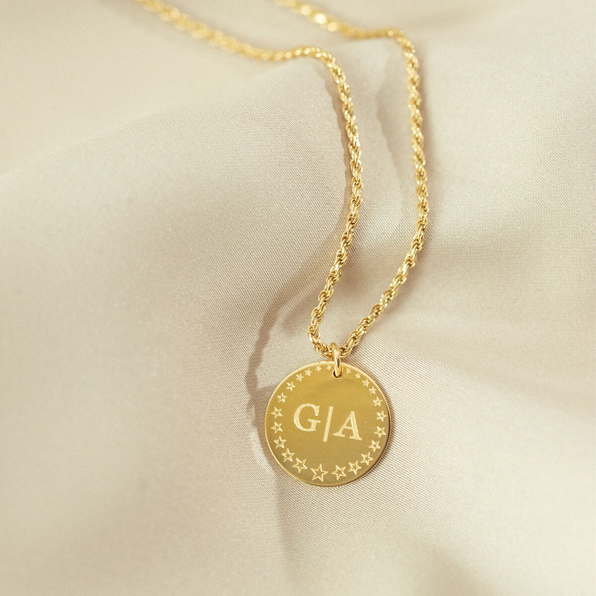 Star Initial Coin Necklace