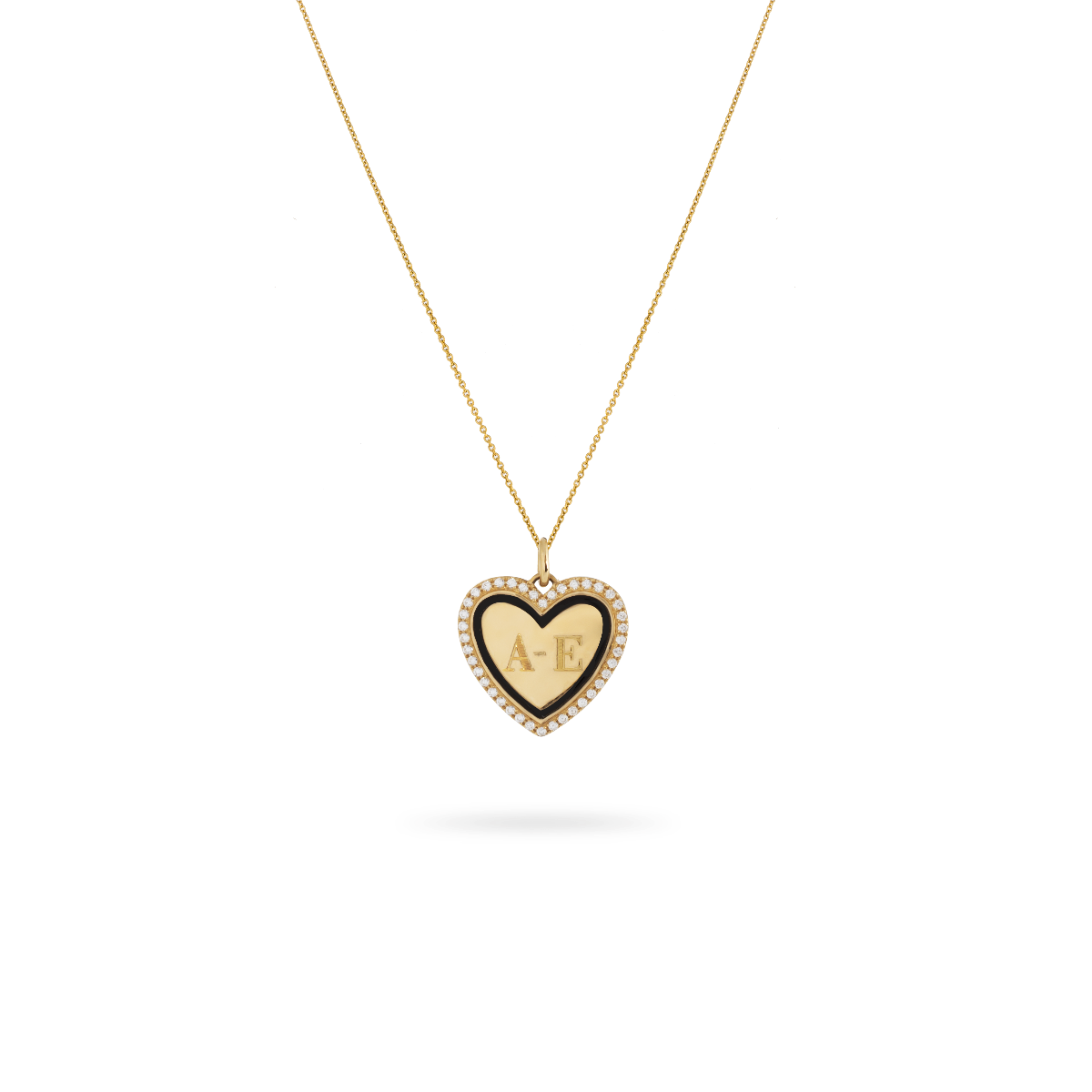 Sylvie Heart Necklace Gold