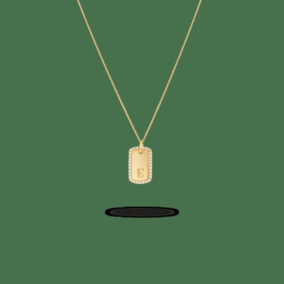 sylvie tag necklace goud