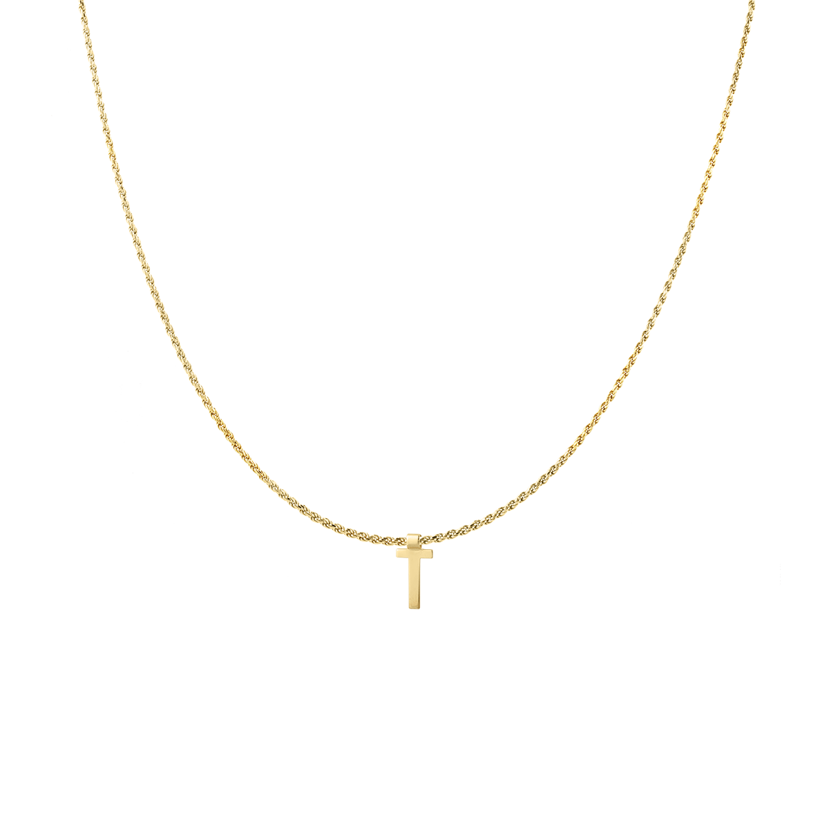 Ruby Rope Letter Necklace goud T