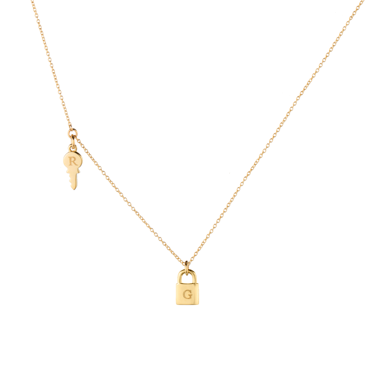 Kailey Key Letter Necklace