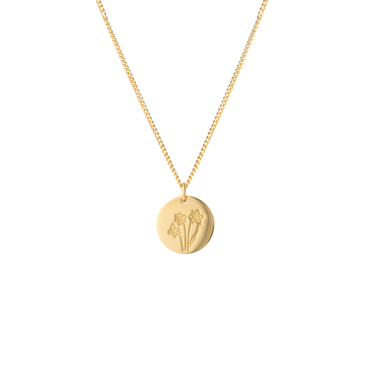 birthflower necklace gold narzisse