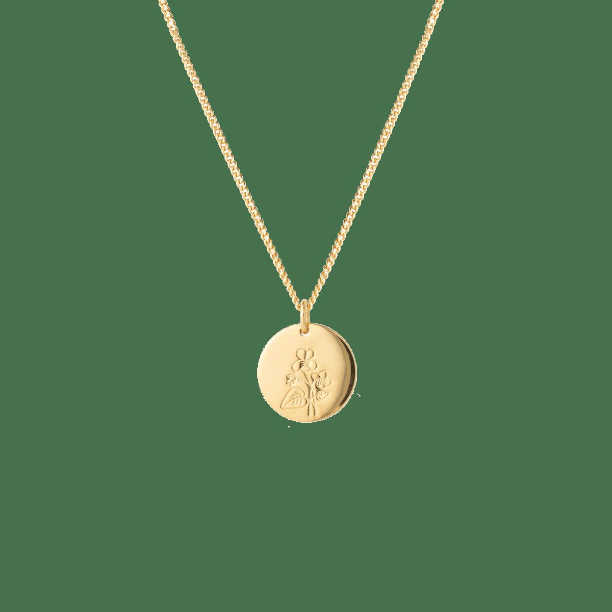birthflower necklace gold violet