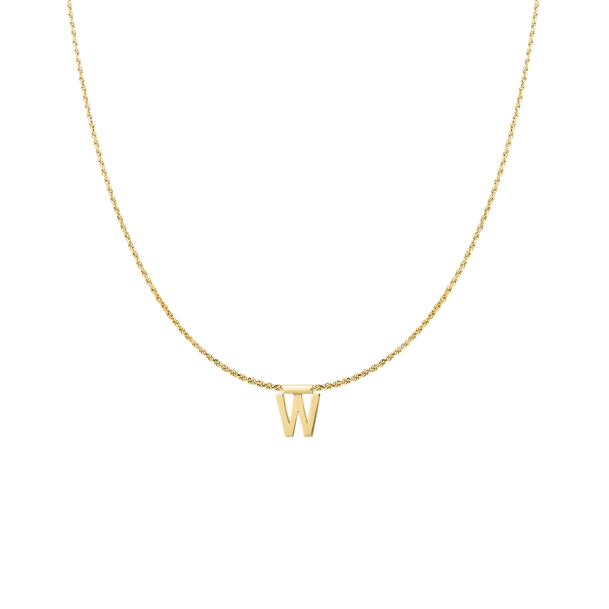 Ruby Rope Letter Necklace goud W