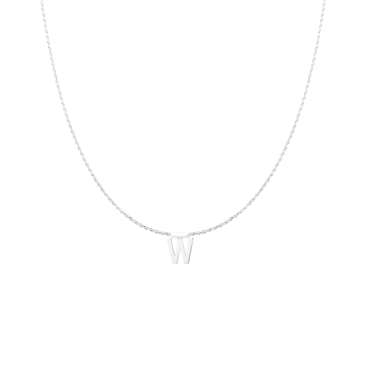 Ruby Rope Letter Necklace zilver W