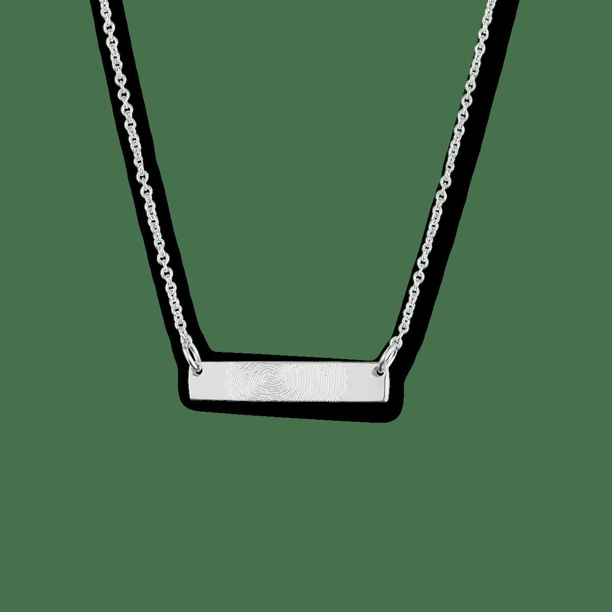 Mini Fingerprint Bar Necklace