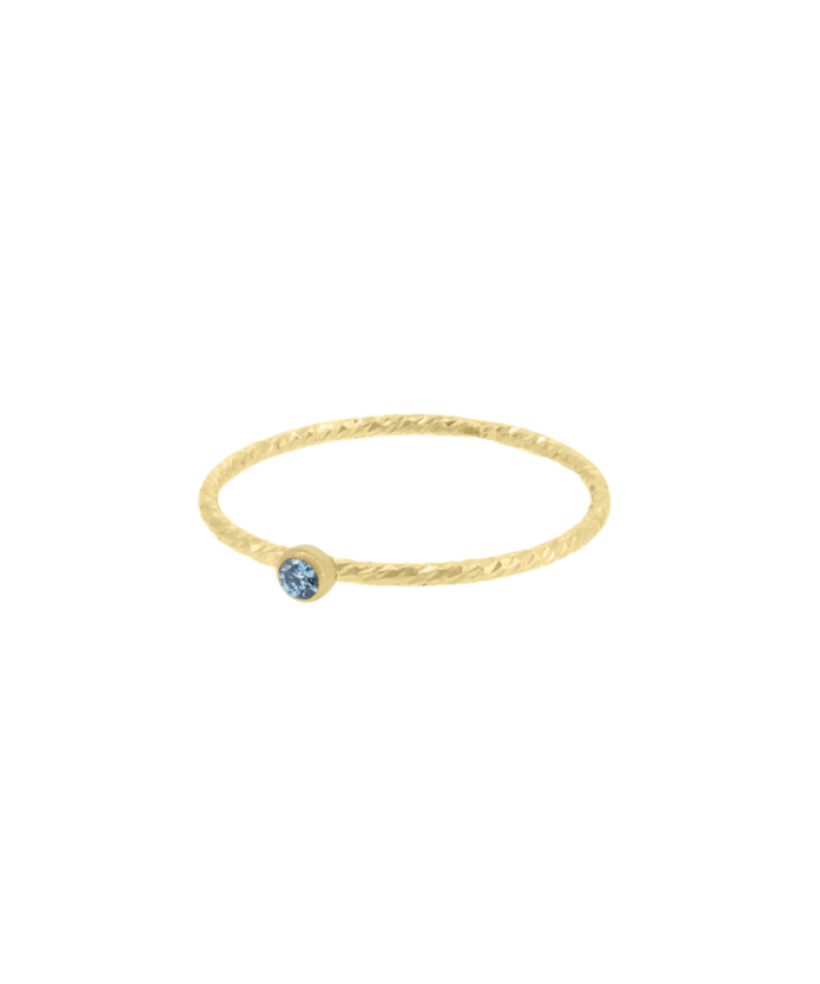 Birthstone Sparkle Ring-19-Yellow Gold-filled-December