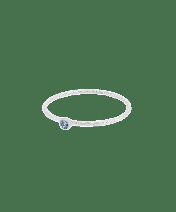 Birthstone Sparkle Ring-19-925 Sterling Silver-December