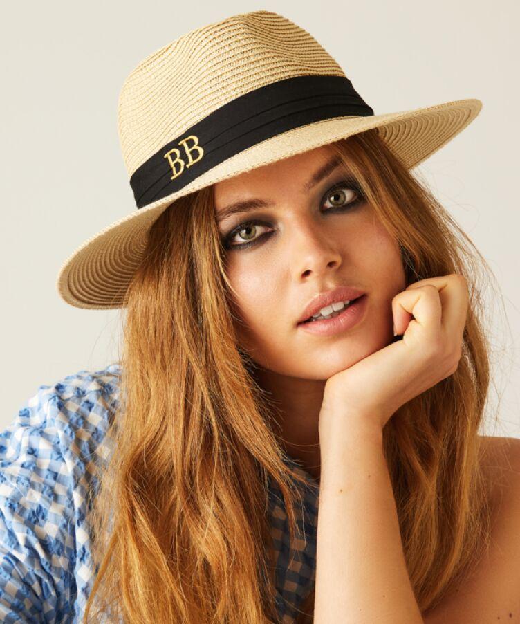 Brigitte Monogram Straw Hat