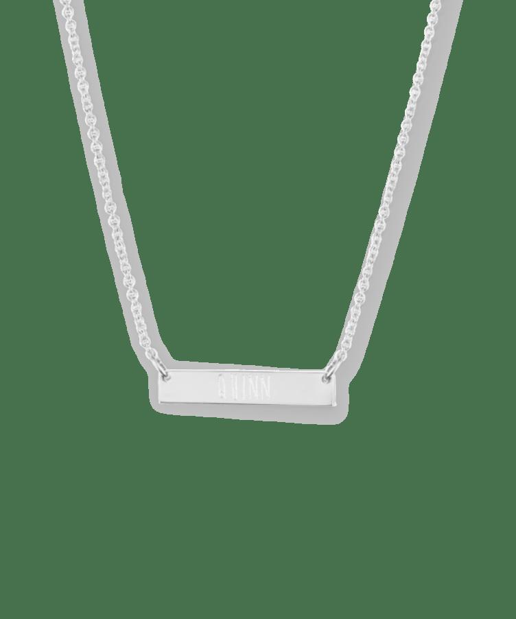 Mini Bar Necklace-925 Sterling Silver-35 cm