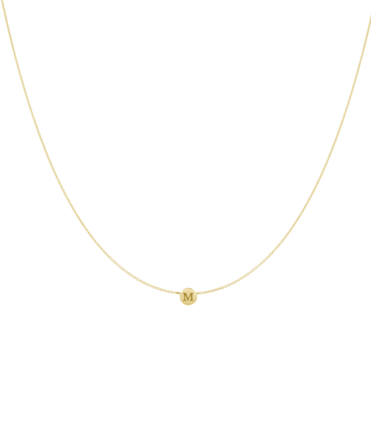 Little Coin Necklace-Solid 14K Yellow Gold-Large: 44 CM