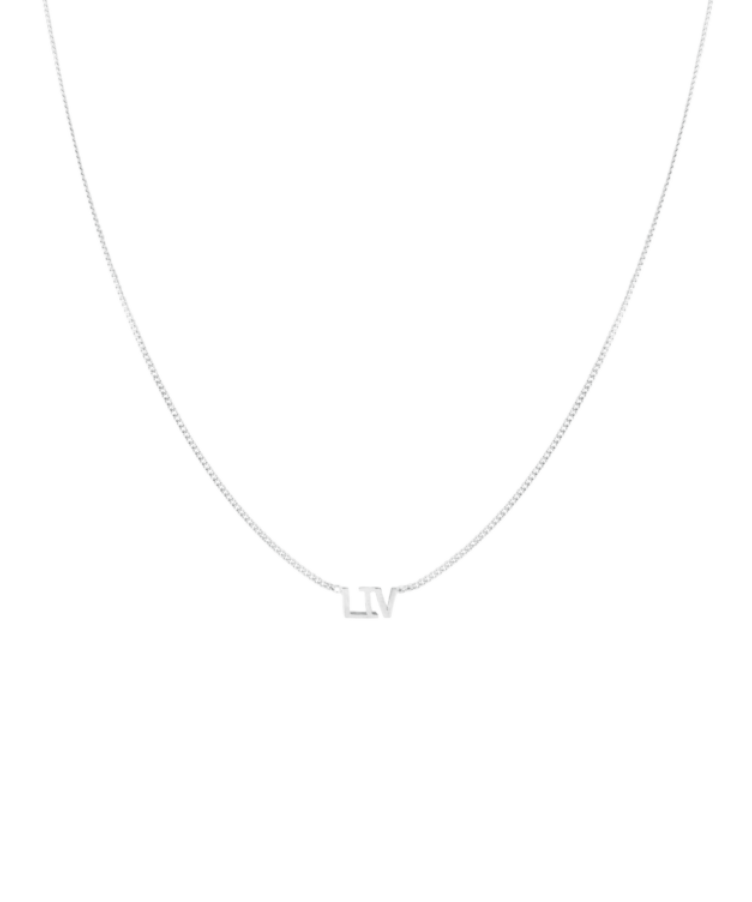 Name Necklace-925 Sterling Silver-Large: 44 CM