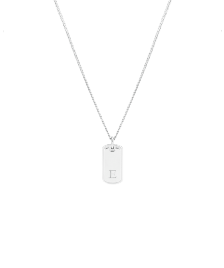 tag necklace silver