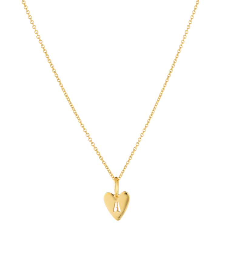 Hannah Heart Necklace-Plated -Small: 40 CM
