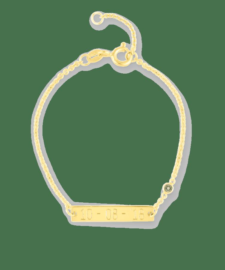 Mini Birthstone Bar Bracelet-Plated -13-15 cm-December - Tanzanite