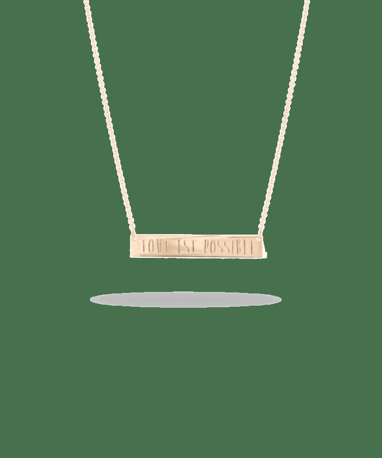 bar necklace rose gold
