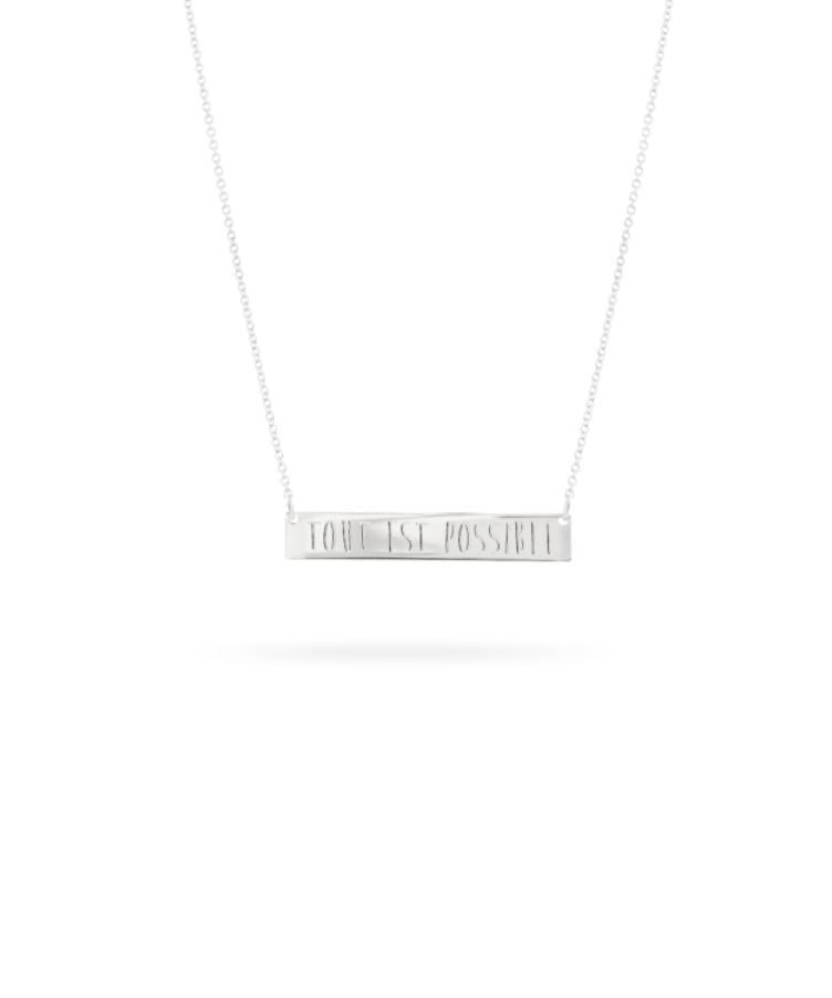 bar necklace white gold