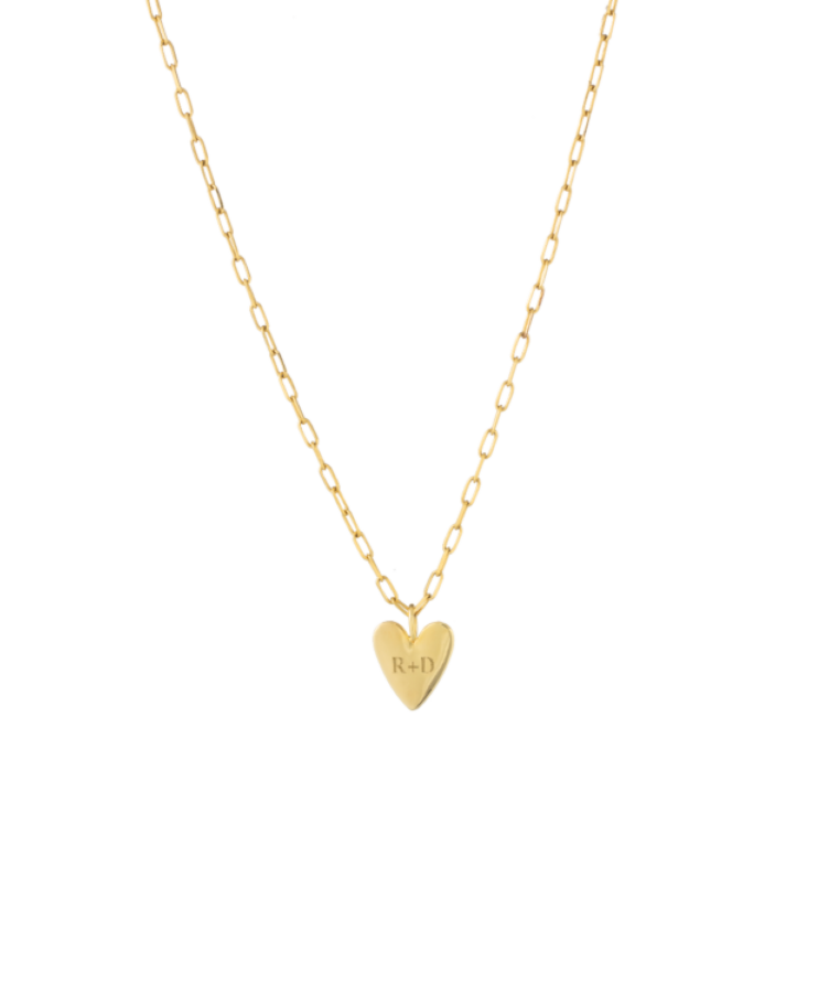Ruby Rope Letter Necklace gold A