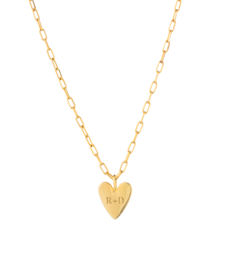 Big Heart Necklace-Plated -Medium: 45 CM