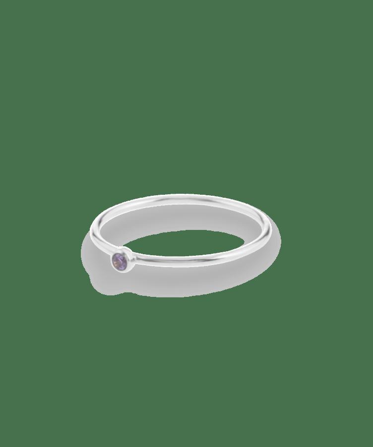 Birthstone ring2-925 Sterling Silver-19-December