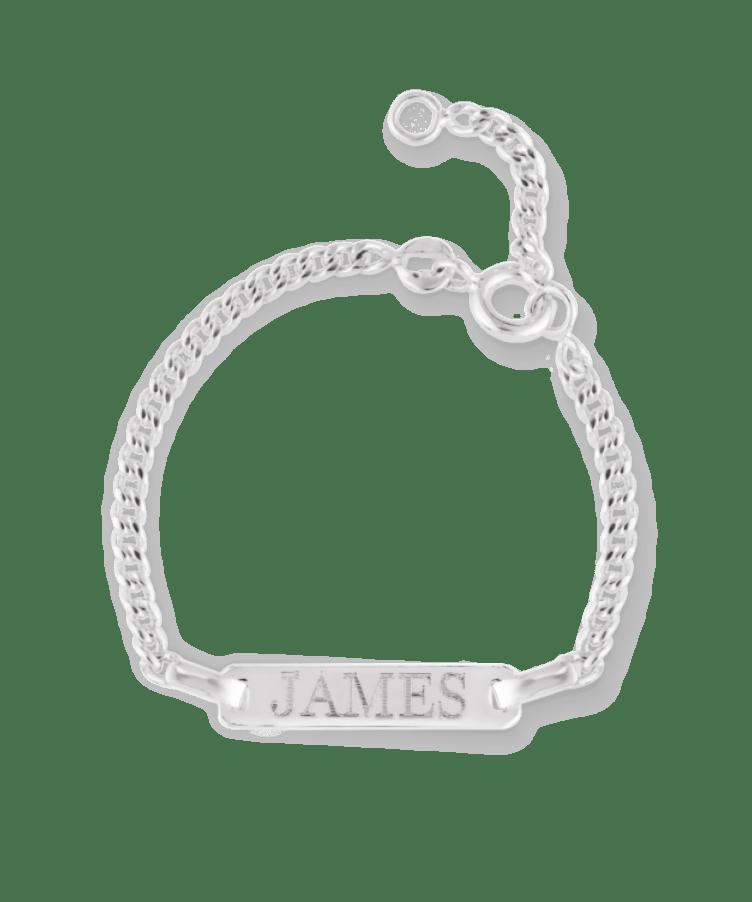 Mini Tag Bracelet-925 Sterling Silver-13-15 cm