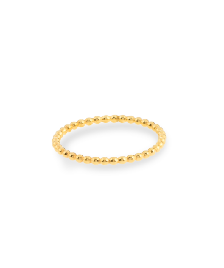 Bubble Ring-Solid 14K Yellow Gold-19