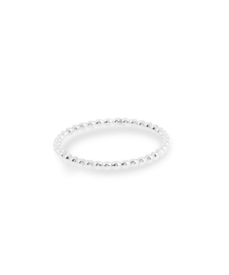 Bubble Ring-Solid 14K White Gold-19