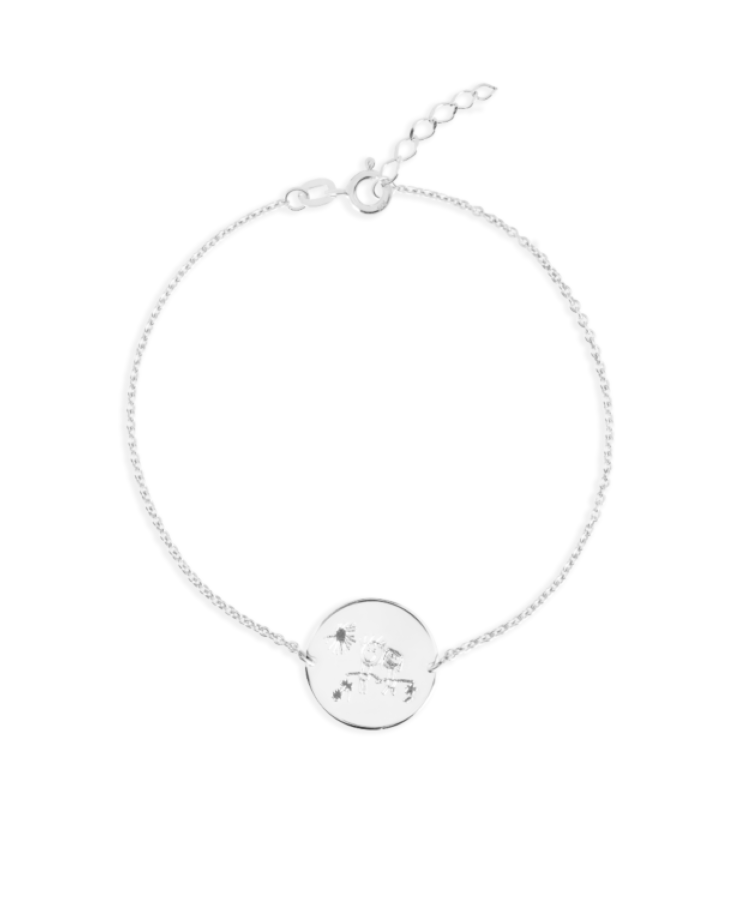 Signature Coin Bracelet-925 Sterling Silver-Extra Large: 18 CM