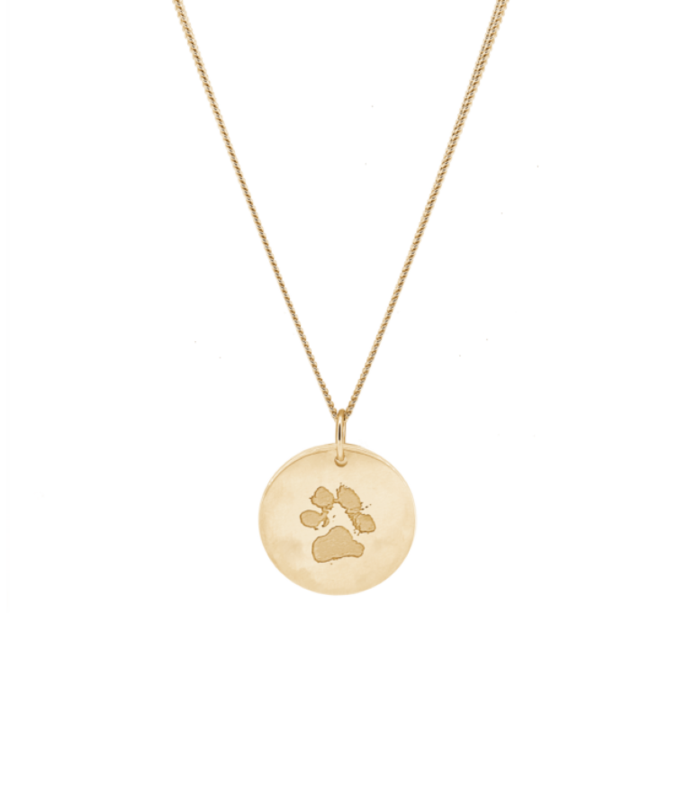 Animal Print Coin Necklace-Large: 50 CM-Solid 14K Rose Gold