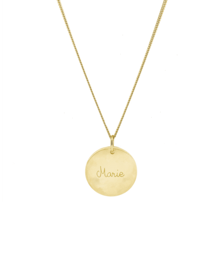 Signature Coin Necklace-Plated 14K Yellow Gold-Large: 50 CM