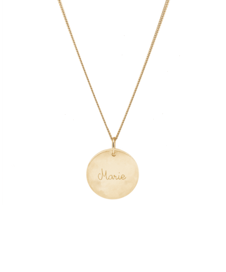 Signature Coin Necklace-Solid 14K Rose Gold-Large: 50 CM